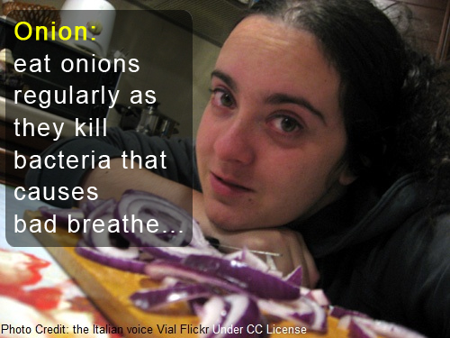 onions bad breath cure, can onions help bad breath